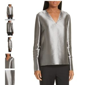 Lewit NWT Metallic Top Holiday Hostess Blouse